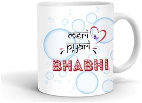 Ivana's Printed Ceramic Coffee Mug Quote - Meri Pyari Bhabhi 11 Oz Mug for Gifting   Party   Anniversary Gift   Indoor and Outdoor Use