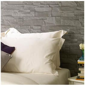 Ivory Solid Pillow Covers (Pillow Cover (2 Pc Set)