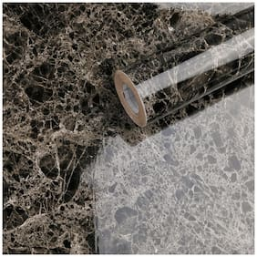 Jaamso Royals Black Marble Contact Paper Granite Waterproof Self Adhesive Removable Contact Paper Adhesive Wallpaper (100 * 60 CM)