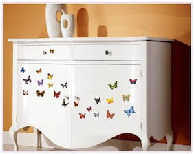 Jaamso Royals 'Multi Color Butterflies' Wall Sticker (30 cm X 45 cm)