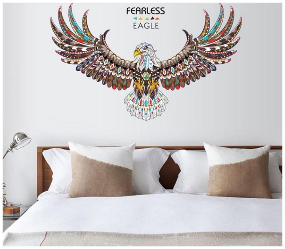 Jaamso Royals ' new eagle wings large wall stickers ' Wall Sticker  PVC Vinyl, 90 cm X 60 cm, Decorative Stickers  by Jaamso Royals