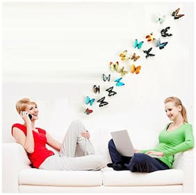 Jaamso Royals 'Multi Color 3D Butterflies' Wall Sticker (21 cm X 29.7 cm) H1-004