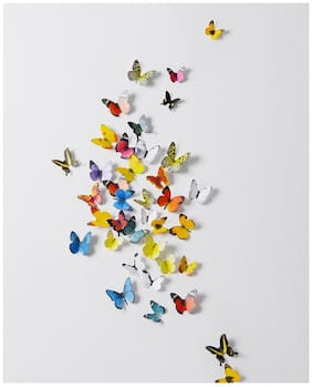 Jaamso Royals 'Multi Color 3D Butterflies' Wall Sticker (21 cm X 29.7 cm) H1-005