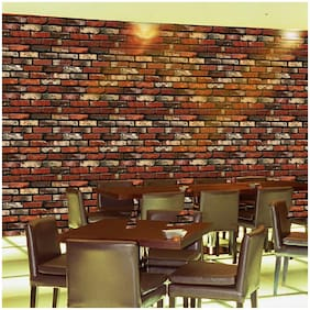 Jaamso Royals Brick Design - Stone Peel and Stick Wallpaper - Self Adhesive Wallpaper - Easily Removable Wallpaper - Use as Wall Paper, Contact Paper, or Shelf Paper