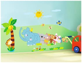 Jaamso Royals 'Kids Animals' Wall Sticker (45 cm X 60 cm)