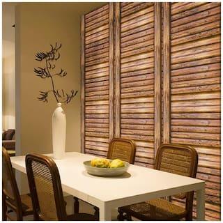 JAAMSO ROYALS 3D Brown wood wallpaper self-adhesive, peel & stick ( 45 CM x 100 CM ) Pack of 1
