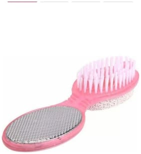 JAGGIS 4 IN ONE BRUSH SET CLEANSE SCRUB BUFF FOOT SCRUBBER NAIL EMERY FILE.