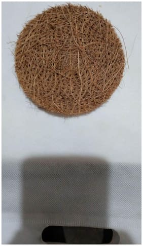 JAGGIS NATURAL SCRUBBER MADE FROM COCONUT COIR ( SET OF 1 (ASSORTED COLOUR)