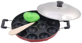JAGGIS Non Stick appam patra appam with side handle 12 cavities.