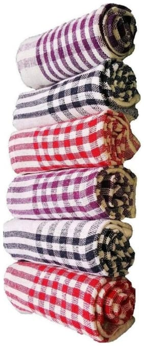 JAGGIS SET OF 6 KITCHEN NAPKINS  ( 15*25 inch)( ASSORTED COLOUR)