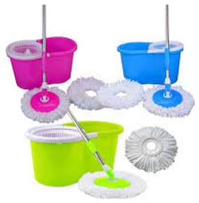 R J star 360° Spinning Rewrite Wonder Cleaner Spinner Steamer Effortless Floors Clean Container Floors Basket Sponge mops Domestic Cleaning up Style (Associate Color)