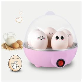 Egg Boiler Electric Automatic Off 7 Egg Poacher for Steaming, Cooking, Boiling Assorted color, Pack of 1