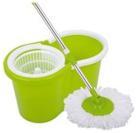 R J star Spin Mop With Spinner And Bucket For Magic 360 deg Cleaning With Refil