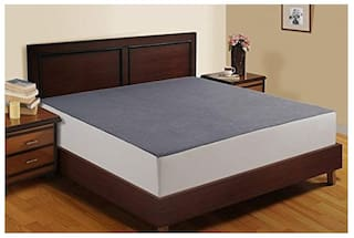 Jaipur Linen Waterproof And Dustproof King Size Bed Fitted Mattress Protector - Light Grey 182.88 cm (72 Inch) X 198.12 cm (78 Inch)
