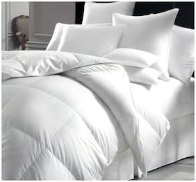 "Jaipur Linen Classic All Season 5* Star Hotel Microfiber -Duvet/AC Comforter/Quilt - Solid White - King Size (90""x100"")"
