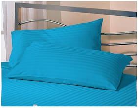 Jaipur Linen Set 2 Premium Microfiber Pillow with 2 pillow cover Standard Size , Sky Blue 17 Inch x 27 Inch