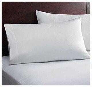 Buy Jaipur Linen Blended Plain Pillow Covers Set Of 2 White
