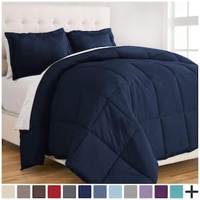 "Jaipur Linen Classic All Season 5* Star Hotel Microfiber -Duvet/AC Comforter/Quilt - Dark Blue - King Size (90""x100"")"