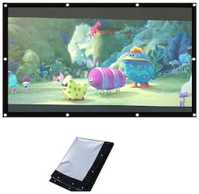 Jambar Eyelet Projector Screen Size ( 7 X 5 ) Foldable