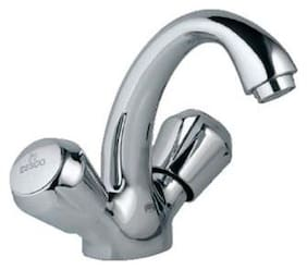 ESSCO JAQUAR Group -  Marvel Central Hole Basin Mixer with  U  Shaped Round Casted Spout with 450mm Long Braided Hoses (Model :- MQT-516A)