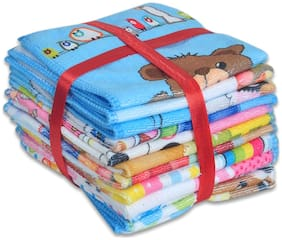 JARS Collections 350 GSM Cotton terry Face Towel ( 10 Pieces , Multi )