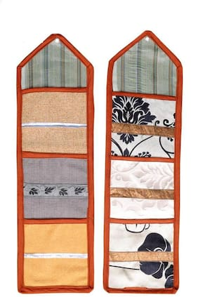 JARS Collections Multipurpose Organizer Wall Hanging with 3 pockets Set Of 2