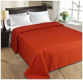 JARS Collections Orange Double Bed polar Blanket