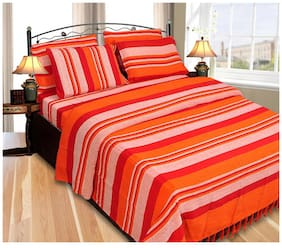 JARS Collections High Quality Cotton Winter Double Bedsheet with 2 Pillow covers
