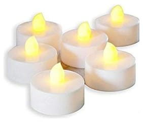 JARS Collections Plastic White Led candle