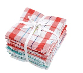 Jars Collections Set Of 6 Checkered Cotton Kitchen Napkins(40X45 cm)