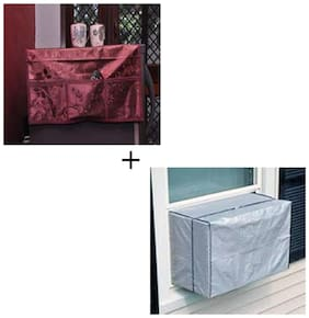 JARS Collections Combo of Multipurpose fridge top cover with 6 Pockets and ac Cover