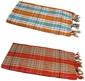 JARS Collections 150 GSM Cotton Bath towel ( 2 pieces , Multi )