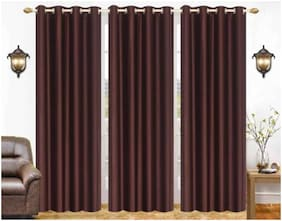 JARS Collections Polyester Door Blackout Brown Regular Curtain ( Eyelet Closure , Solid )
