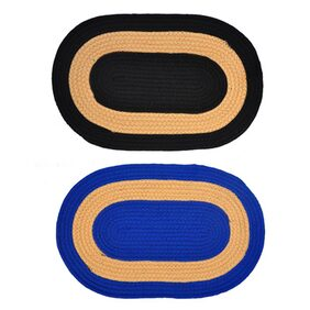 JARS Collections Set Of 2 Attractive Oval Shaped Door Mat