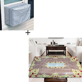 JARS Collections Combo of Centre Table Cover and AC Cover
