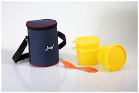 Java 3 Containers Plastic Lunch Box - Yellow