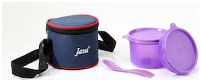 Java 2 Containers Plastic Lunch Box - Purple