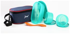 Java 3 Containers Plastic Lunch Box - Green