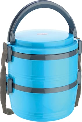 Jayco Blue 2 Containers Lunch box ( Set of 1 , 680 ml )