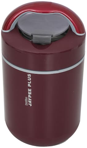 Jaypee Plus 3 Container Stainless Steel Electric Lunch Box Set of 1 ( Maroon ,  1500 ml )