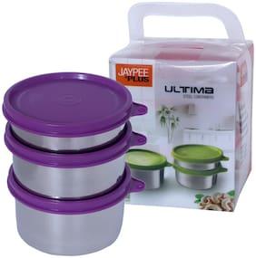 Jaypee Plus 1050 ml Purple Stainless steel Container Set - Set of 3