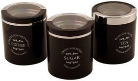 Jaypee Plus Classique 3 set of 3 Tea Sugar & coffee container Black
