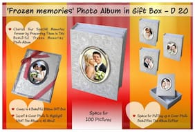 Jazam Frozen Memories Photo Album In Ribbon Gift Box (100 Pictures) (5 X 7)