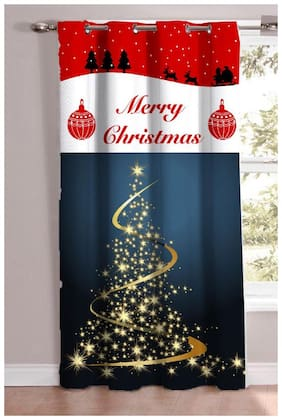 JBG Home Store Christmas Theme Printed Digital Print Door Curtain(pack of 1)