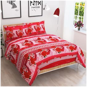 Jbg Home Store Polycotton Double Bedsheet With 2 Pillow Covers