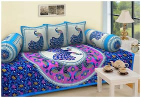 JBG Home Store Cotton Printed Single Size Diwan Sets - Pack of 6