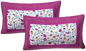 Jbg Home Store Pack Of 2 Cotton Panel Pillow Covers