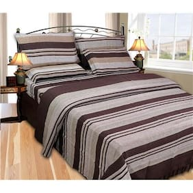 JBG Home Store High Quality Cotton Winter Double Bedsheet with 2 Pillow covers