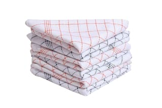 JBG Home Store Set of 6 Checkered High Quality Cotton Kitchen Napkins