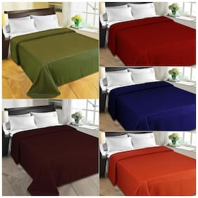 JBG Home Store Set of 5 Solid Double Blankets